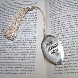 'Fell Asleep' Vintage Spoon Bookmark