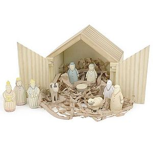 Handcrafted Nativity Scene - view all decorations