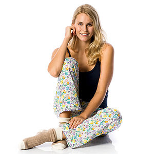 Flower Print Pyjama Bottoms - lingerie & nightwear
