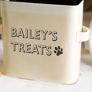 Personalised Vinyl Lettering For Pet Storage
