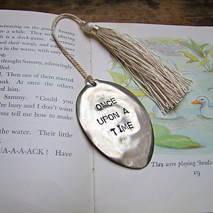 'Once Upon A Time' Vintage Spoon Bookmark - desk accessories