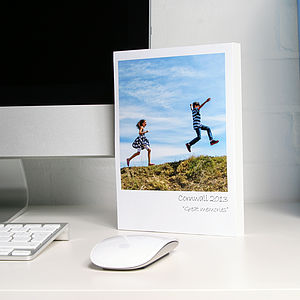 Polaroid Desk Frame With Personalised Caption - picture frames