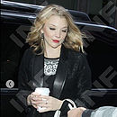 Black rhodium Aeon earrings worn by Natalie Dormer