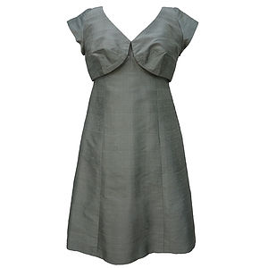 1960's Shot Silk Vintage Cocktail Dress - wedding fashion