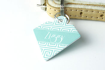 Personalised Pet Id Diamond Tag Maze