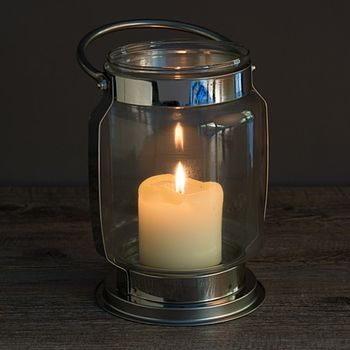 Traditional Glass Hurricane Candle Lantern
