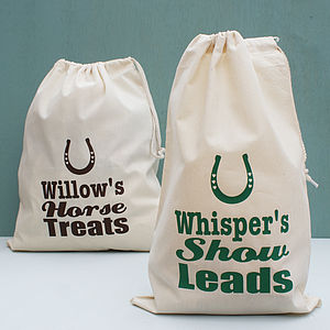 Personalised Horse Feed Storage Sack - food, feeding & treats