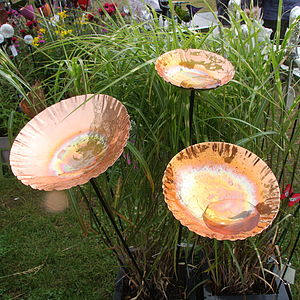 Special Offer Set Of Copper Birdbath Chalice - art & decorations