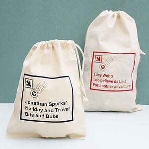 Personalised Travel Storage Bag - gifts under £15