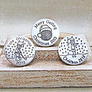Personalised Silver Christmas Golf Marker