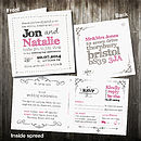 Personalised Wedding Invitation With Rsvp