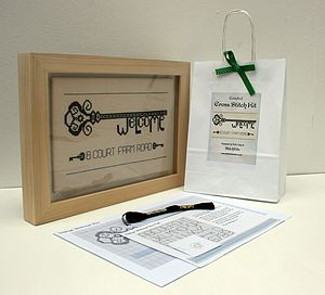 Welcome To My Home Cross Stitch Kit - creative kits & experiences