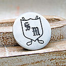 Personalised Silver Initials Golf Ball Marker