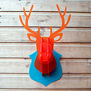 Perspex Flat Pack Stags Head