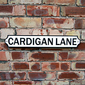 Personalised Old English Street Sign - outdoor decorations