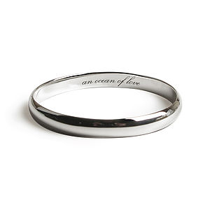 Lucky Message Bangle - bracelets & bangles