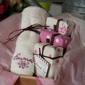 Organic Cocoa Butter Soap Gift Box - bathroom