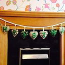 Hand Made Green And Gold Christmas Banner