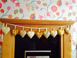 Hand Made Gold Christmas Banner