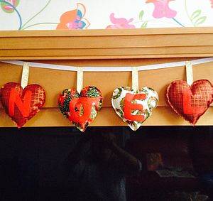 Hand Made Red 'Noel' Christmas Banner - garlands & bunting