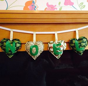 Hand Made Green 'Noel' Christmas Banner - garlands & bunting