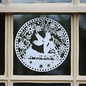 Large Frosted Christmas Window Decoration