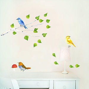 Birds Branch - wall stickers