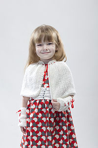 Merino Wool Cape - children's accessories