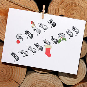 'Delivered By Hand' Merry Christmas Card - shop by category