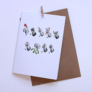'Delivered By Hand' Merry Xmas Card