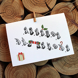 'Delivered By Hand' Seasons Greetings Card - christmas card packs