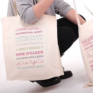 Personalised 'Loves' Tote Bag