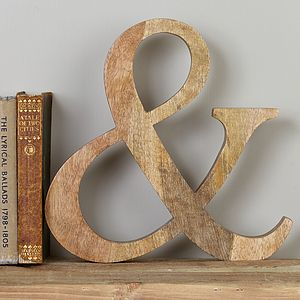 Wooden Ampersand - room decorations