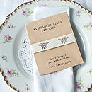 Seeds For Bees Wedding Favour With Bee Ribbon