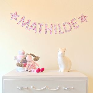 D'anjo Liberty Fabric Name Garland - gifts for their rooms