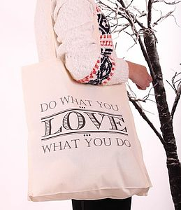 Do What You Love Tote Bag - bags, purses & wallets