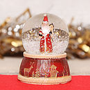 Traditional Santa Mini Snow Globe Dome