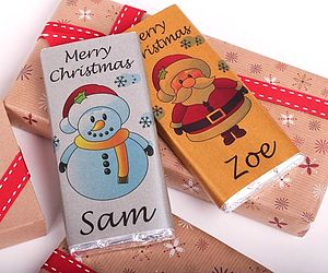 Personalised Christmas Chocolate Bar - chocolates