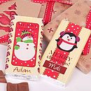 Personalised Christmas Polka Dot Chocolate