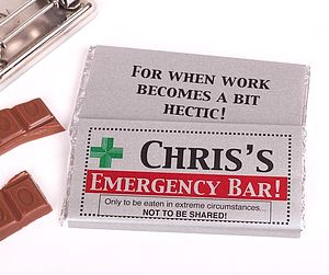 Personalised Emergency Chocolate Bar - sweet treats