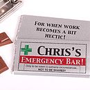 Personalised Emergency Chocolate Bar