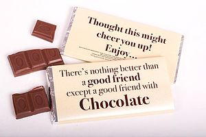 Nothing Better Than 'A Good Friend' Chocolate Bar - food & drink gifts
