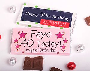 Special Year Personalised Chocolate Bar - shop by price
