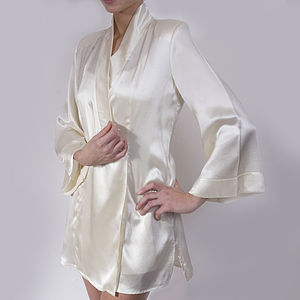 Bell Sleeved Silk Jacket
