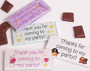 Personalised Party Chocolates - wedding favours