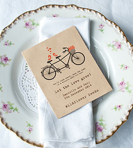 Birds On Tandem Wildflower Seed Packet Favour - wedding favours