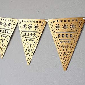 Laser Cut Christmas Bunting - garlands & bunting