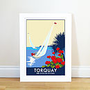 Torquay Sailing Vintage Style Seaside Poster