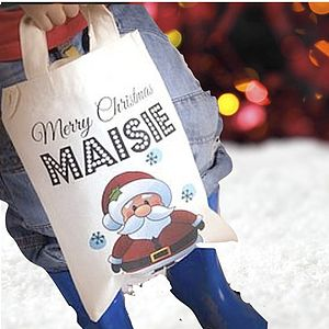 Personalised Christmas Tote Bag - baby & child