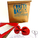 Crafty Bag D.I.Y Leather Bow Brooch